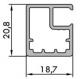 ALU1 alumínium ajtókeret profil - rajz