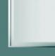 ALU1/2 alumínium ajtókeret profil üveggel szerelve