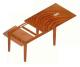 Egyoldalra nyíló asztalvasalatok - asztalrajz 2. típus