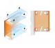Világító polc fogantyús ajtós szekrényhez - beépítési rajz