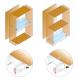 Világító polc fogantyú nélküli ajtós szekrényhez - beépítési rajz