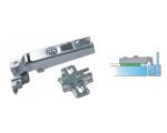 Tekno Aluminiumrahmenscharnier mit Montageplatten für ALU1 und ALU1/2 Profilen