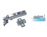 Tekno hinge with baseplate for ALU1 and ALU1/2 aluminium door frames
