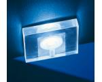 F03 LED exkluzív átlátszó, szögletes, fehér fényű lámpa