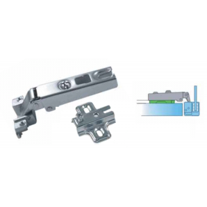 Tekno hinge with baseplate for ALU1 and ALU1/2 aluminium door frames