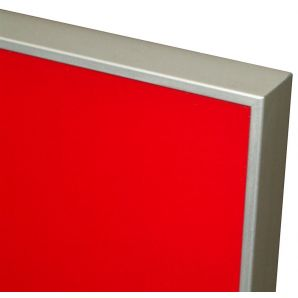 ALU14 ajtófront, piros (Lacobel Luminous Red) üveggel
