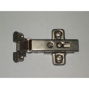 Full overlay (push-open) hinge with baseplate for  ALU1 profile, Salice
