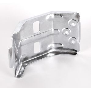 Leg corner brackets with edge, H=70mm
