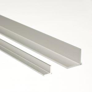 Alumínium dekor 'L' profil, matt alu elox felülettel