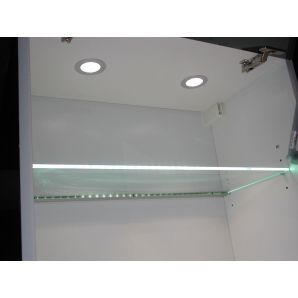 P10 LED in alu profile – for glass shelves