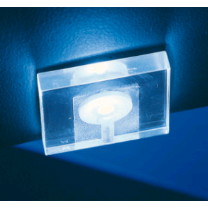 F03 LED exclusive transparent, square lamp