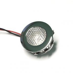 F09 kerek, d=30 mm, króm LED lámpa