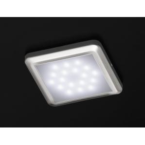 F24 Eckige LED-Lampe mit 18 St weißen LEDs