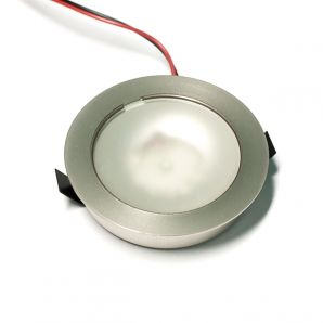 F67 round d=55mm, satin nickel LED lamp