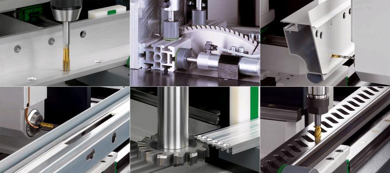 Bearbeitung von Aluminium-Profilen