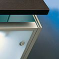Lighting shelf for for cabinet door with handle